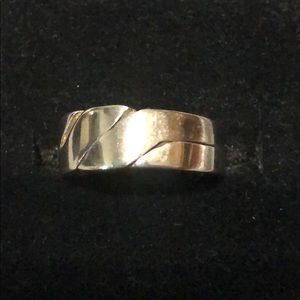 .925 sterling silver puzzle ring